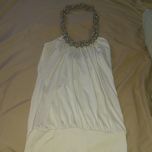Body Central Tops - 3/$30 Body Central white top w silver metal halter